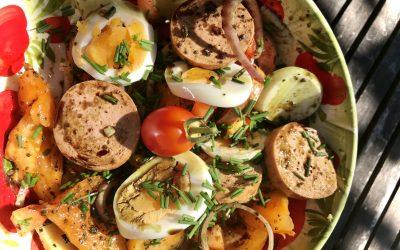 Kühlendes für die Hitzewelle 6 – Wurstsalat High End